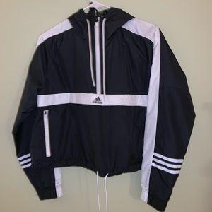 Adidas cropped windbreaker